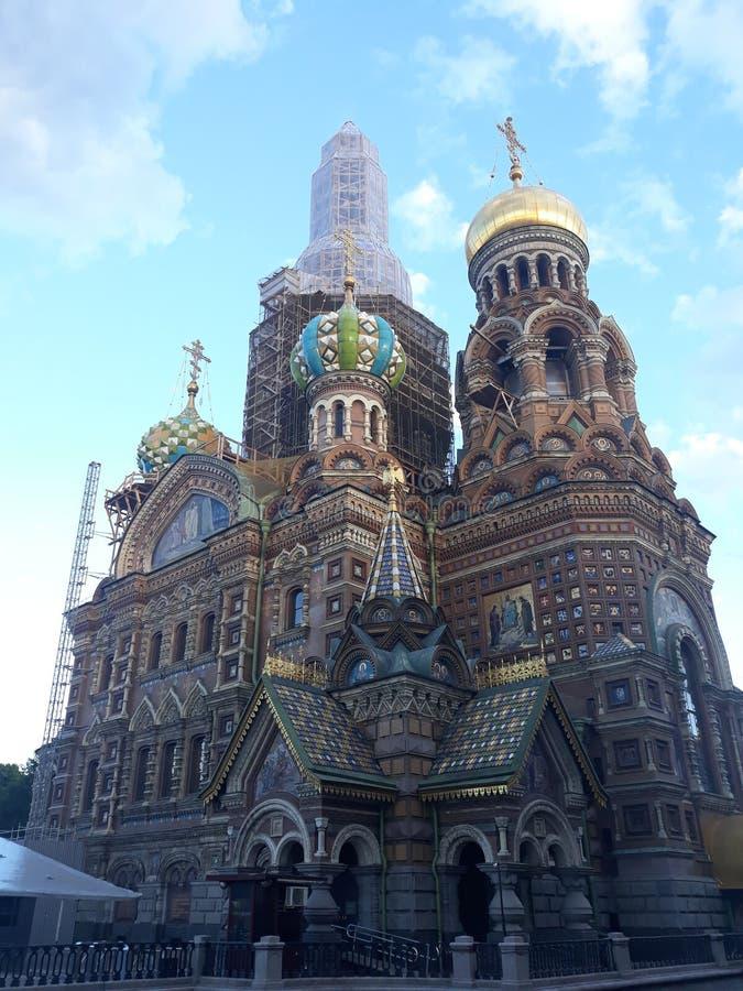 Magin av St Petersburg arkivfoto
