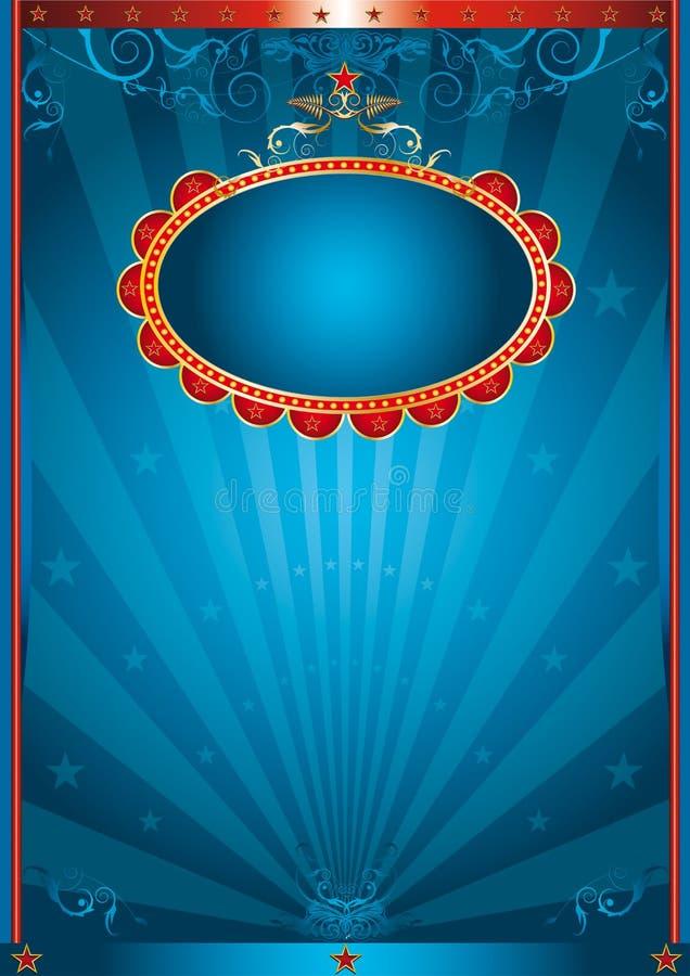 Magisch blauw royalty-vrije illustratie