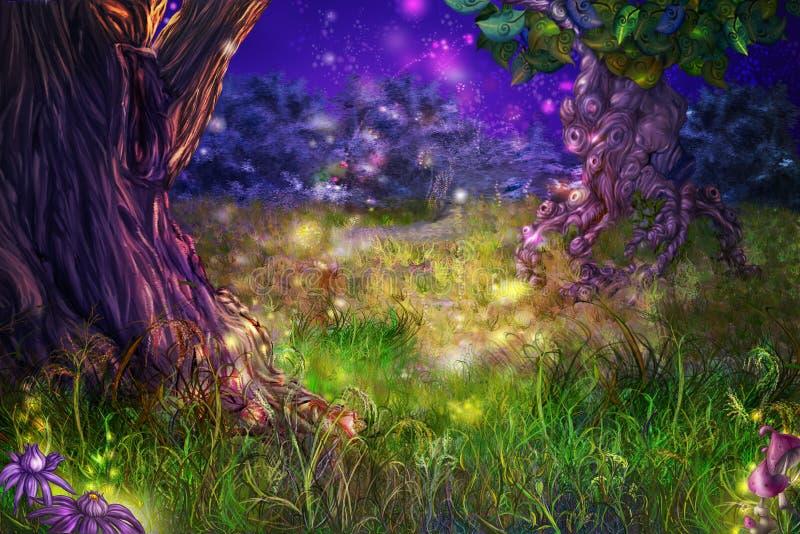 Magisch bos stock illustratie