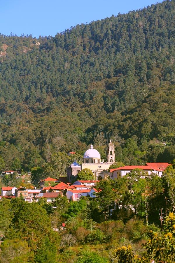 Magisch dorp van Minerale del chico III stock afbeeldingen