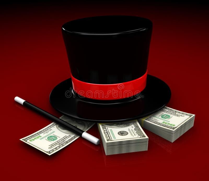 Magisch geld stock illustratie