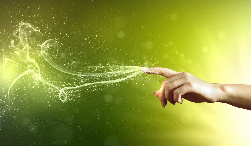 Magisch handen conceptueel beeld royalty-vrije stock afbeeldingen