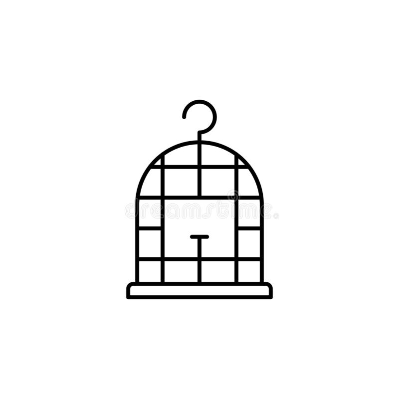 Magisch het overzichtspictogram van de vogelkooi De tekens en de symbolen kunnen voor Web, embleem, mobiele toepassing, UI, UX wo royalty-vrije illustratie