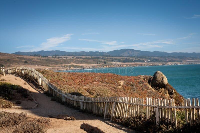 Magisch landschap op de Vreedzame kust dichtbij Pescadero stock afbeelding