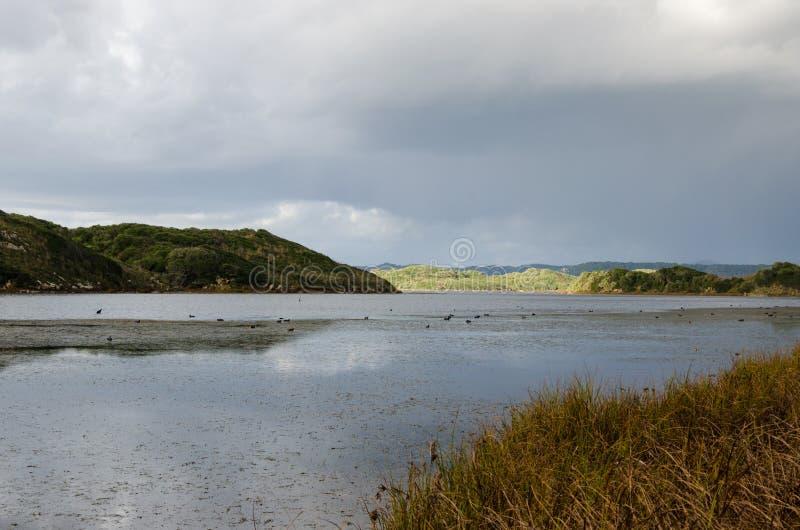 Magisch landschap van Menorca Albuferade S grau stock foto's