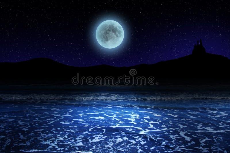 Magisch maanlicht stock foto