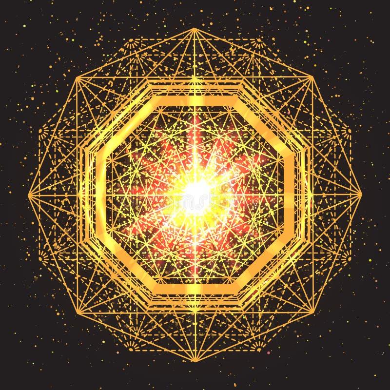 Magisch meetkundeteken Abstracte heilige meetkunde vector illustratie