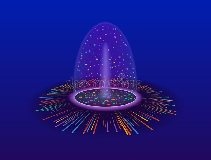 Magisch portaal van fantasie Futuristische teleport royalty-vrije illustratie