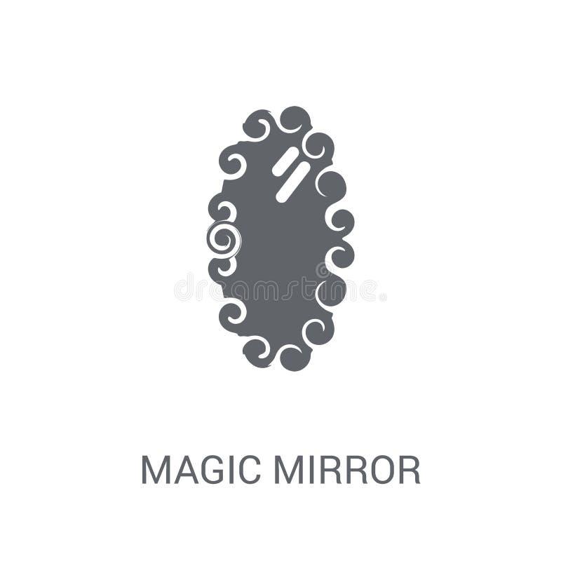 magisch spiegelpictogram  vector illustratie