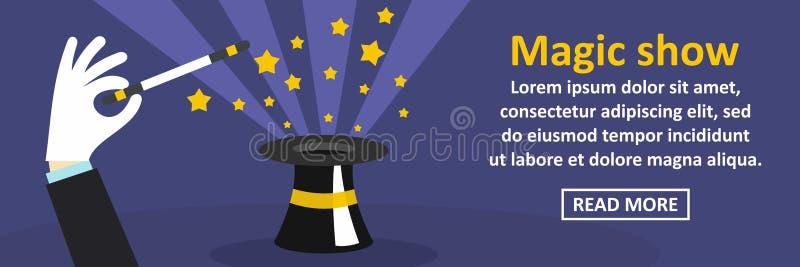 Magisch toon banner horizontaal concept stock illustratie