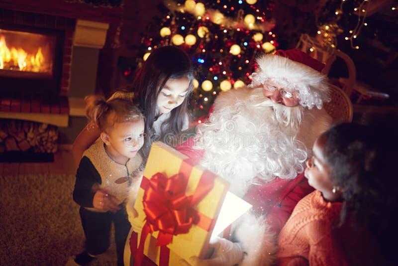 Magisch van Kerstmis stock afbeeldingen