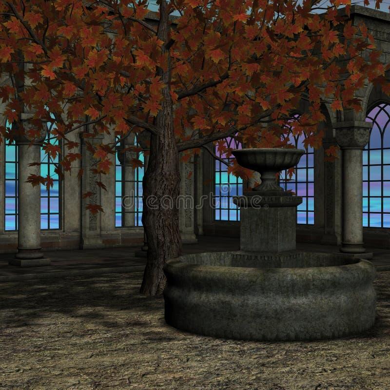 Magisch venster in fantasie het plaatsen royalty-vrije illustratie