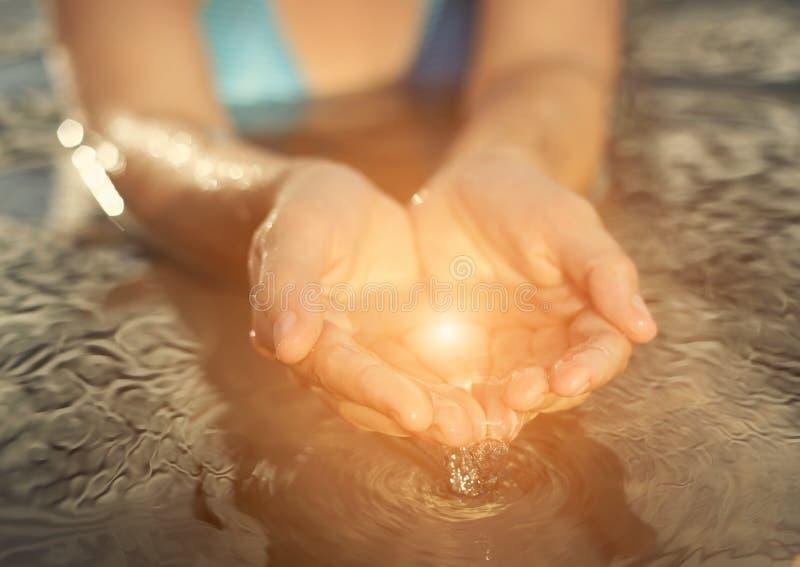 Magisch water stock foto