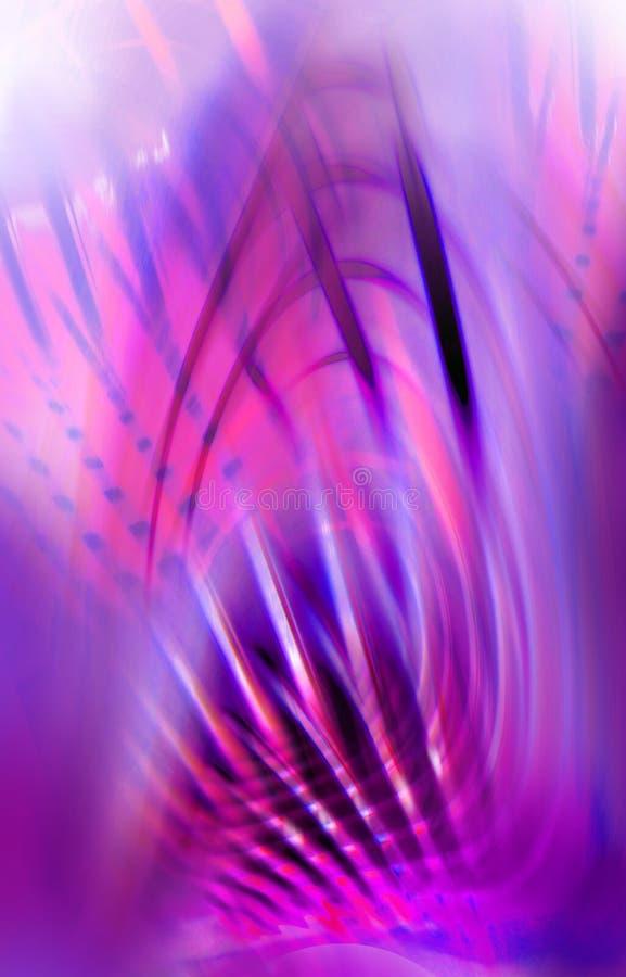 Magische achtergrond in roze en purple - abstracte 3d textuur royalty-vrije illustratie