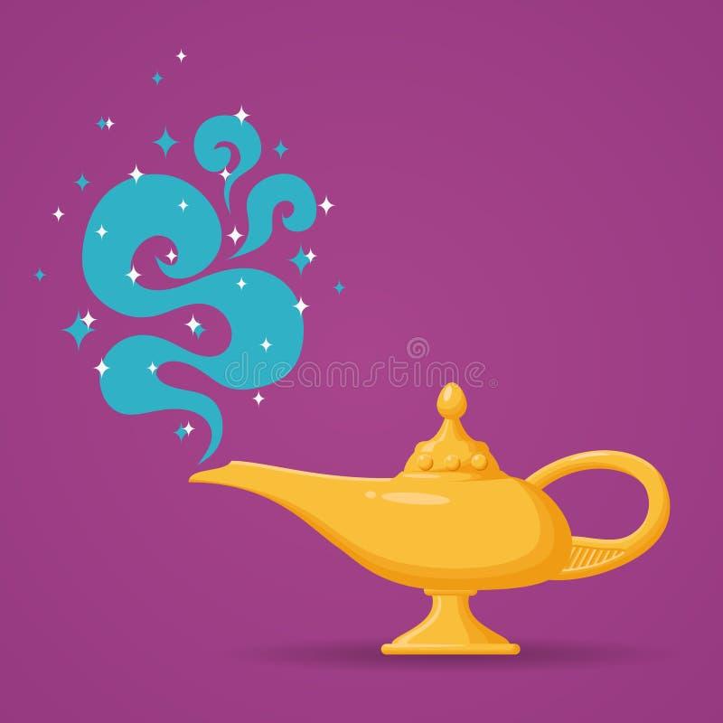 Magische Aladdin-lamp vectorillustratie vector illustratie