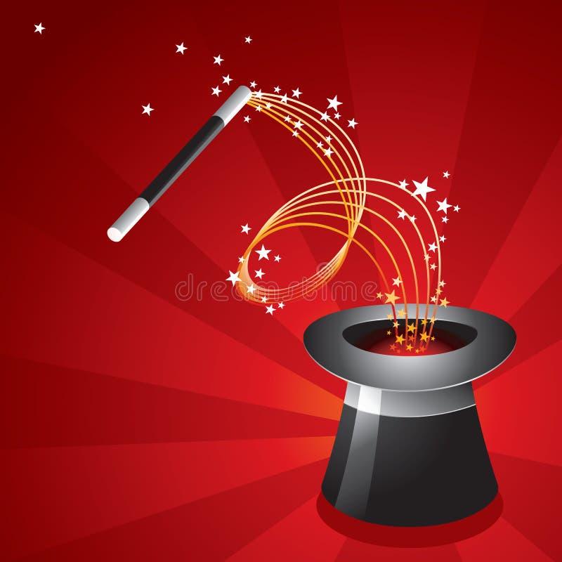 Magische Apparatuur - Hoed stock illustratie