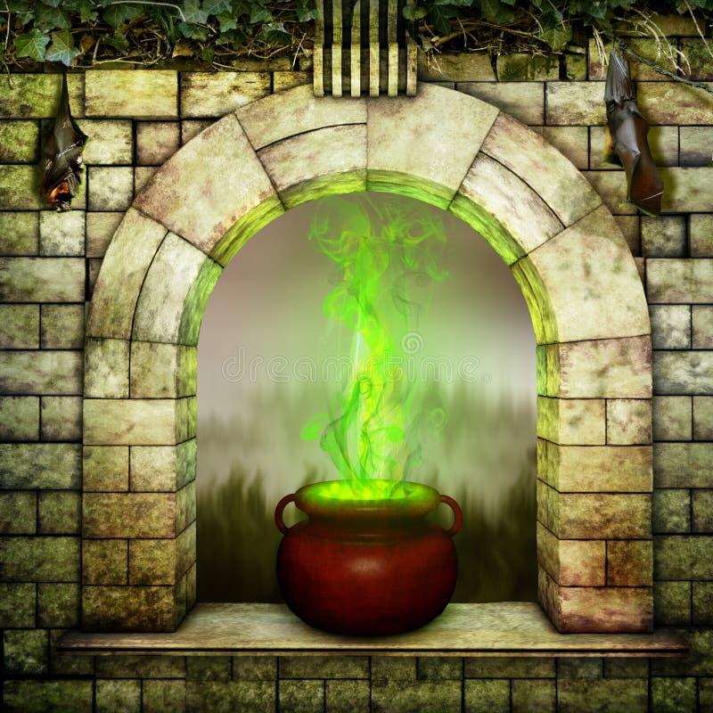 Magische arcanum royalty-vrije illustratie