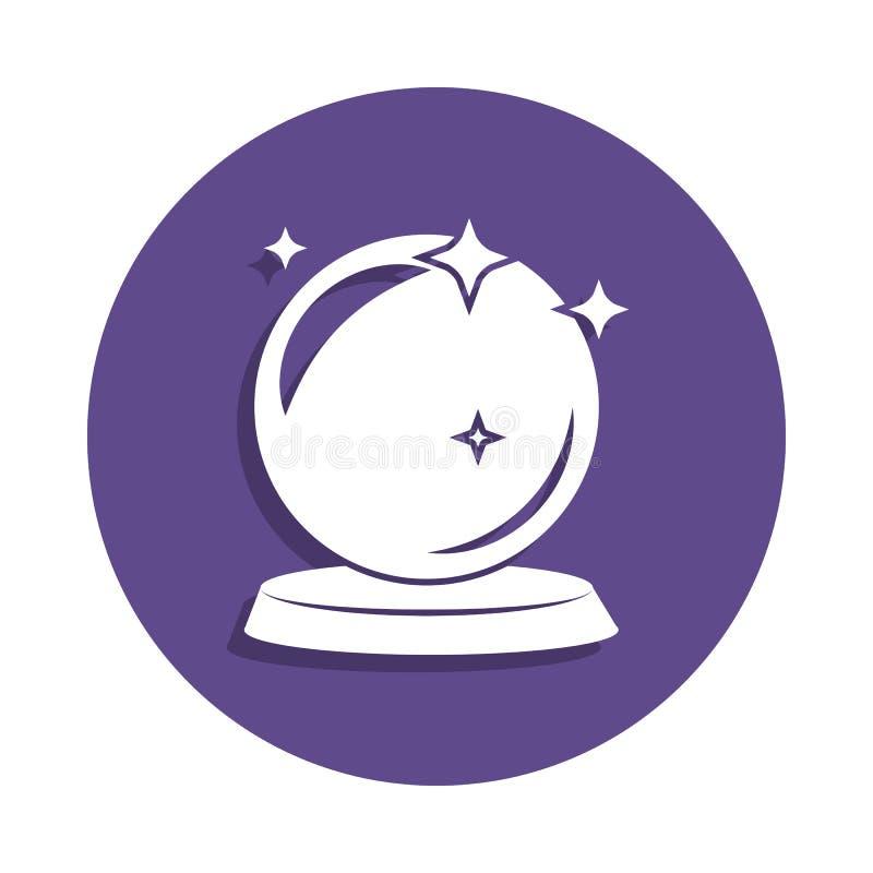 magische Ballikone in der Ausweisart Ein der magischen Sammlungsikone kann für UI, UX verwendet werden lizenzfreie abbildung