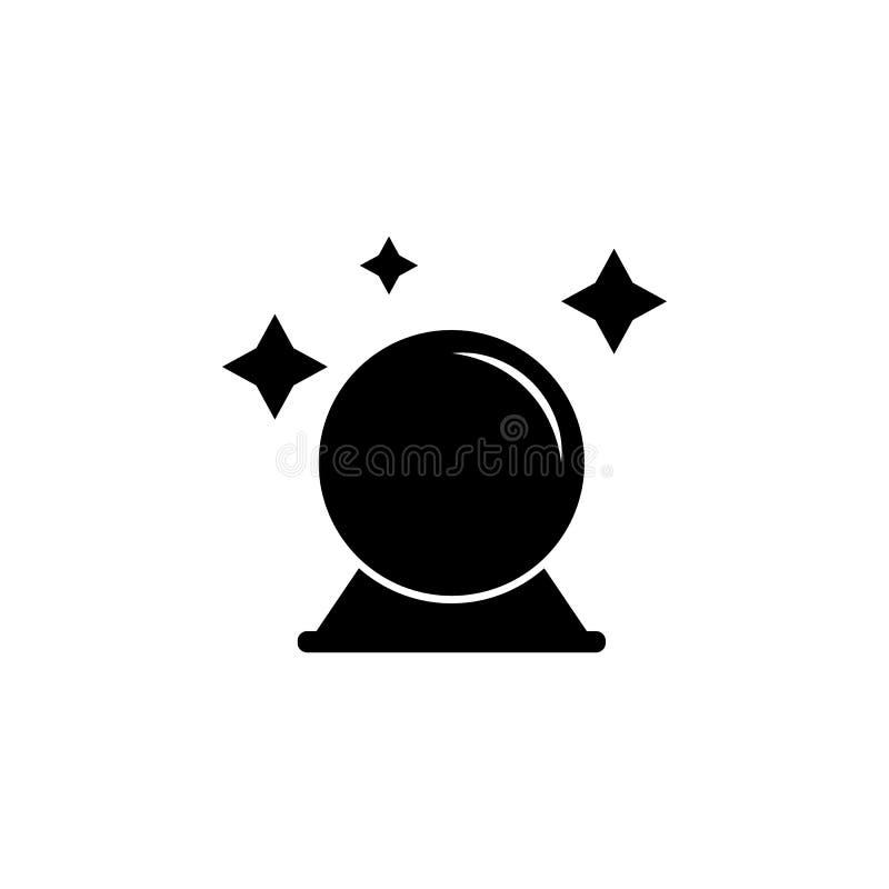 Magische Ballikone Element der Geistelementillustration Dünnes Zeilendarstellung für Websitedesign und Entwicklung, APP-developme lizenzfreie abbildung