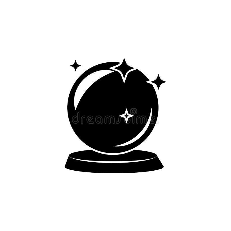 Magische Ballikone Element der populären magischen Ikone Erstklassiges Qualitätsgrafikdesign Zeichen, Symbolsammlungsikone für We stock abbildung