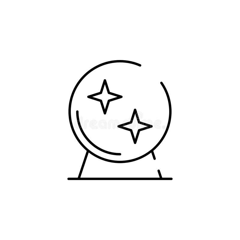 Magische Ballikone Element von Halloween-Illustration Erstklassige Qualitätsgrafikdesignikone Zeichen und Symbolsammlungsikone fü lizenzfreie abbildung