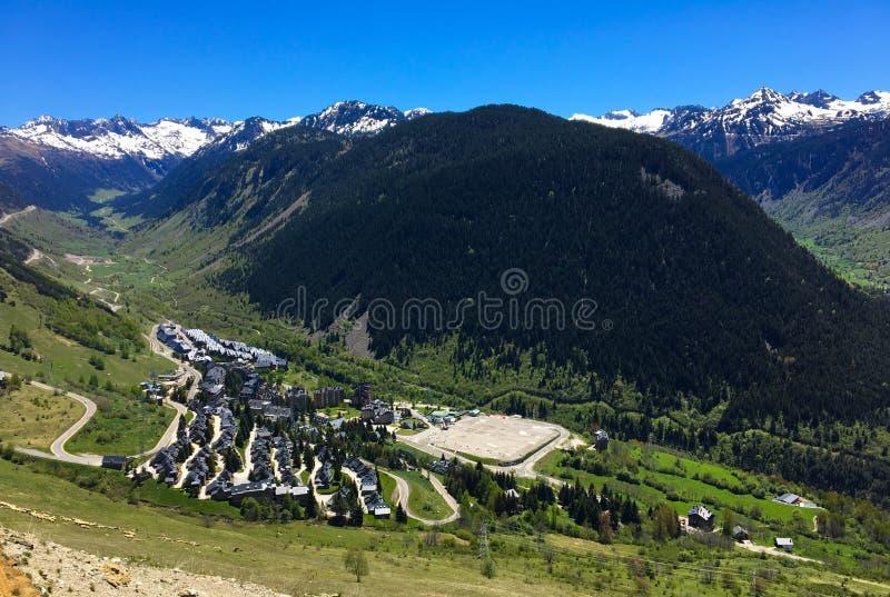 Magische Bergen in Spanje dichtbij Frankrijk royalty-vrije stock foto