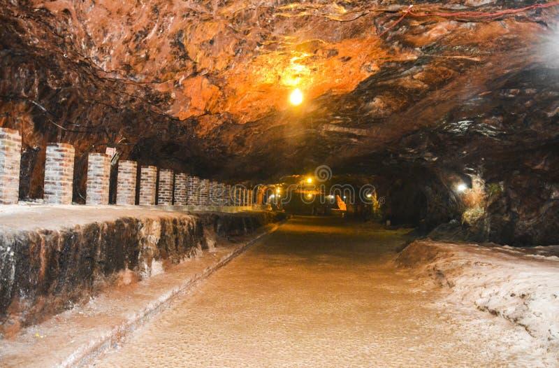 Magische binnenmening van Khewra-zoutmijn royalty-vrije stock afbeeldingen