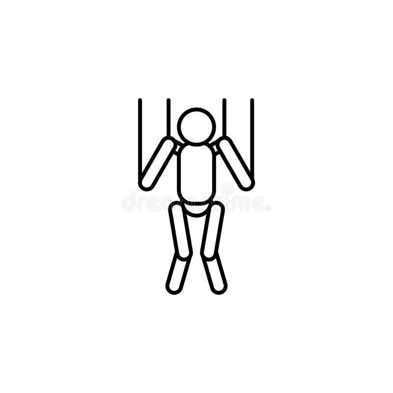 Magische blinde Entwurfsikone Zeichen und Symbole können für Netz, Logo, mobiler App, UI, UX verwendet werden lizenzfreie abbildung