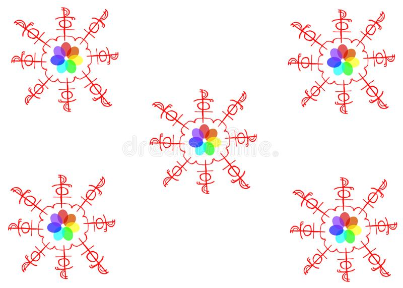 Magische Carrousel Vector grafiek Oude brieven stock illustratie