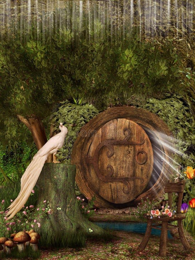 Magische deur stock illustratie