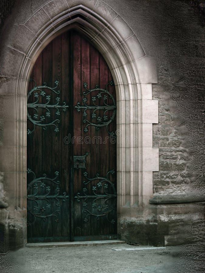 Magische deur stock foto