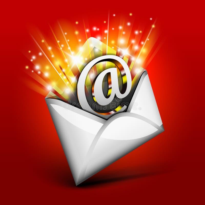 Magische e-mail vector illustratie