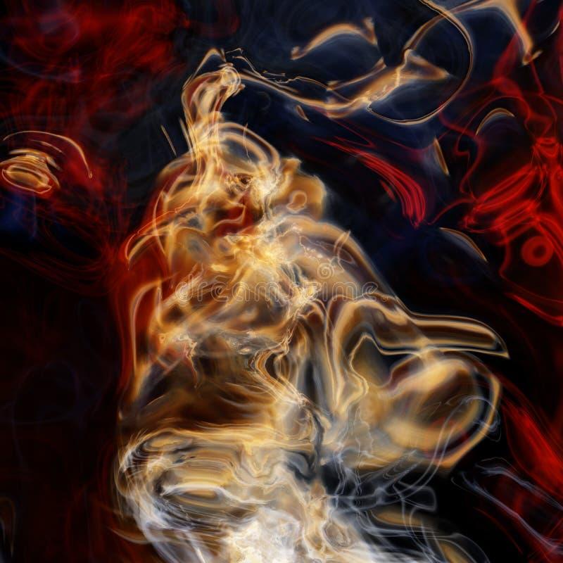 Magische elektrische rook stock foto's
