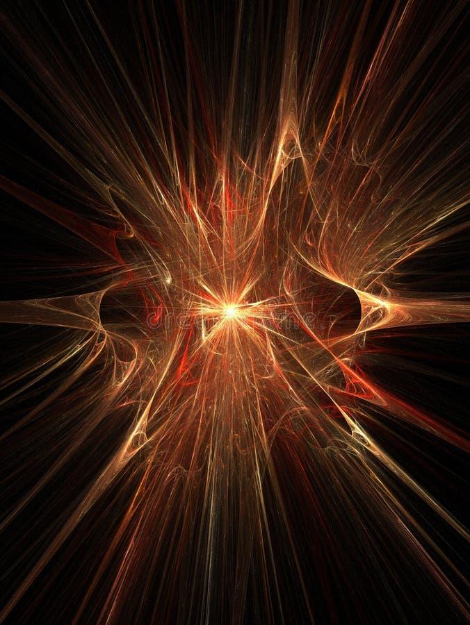 Magische explosie 3D supernova royalty-vrije illustratie
