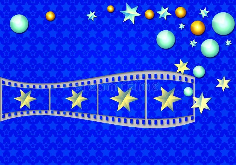 Magische filmstrook royalty-vrije illustratie