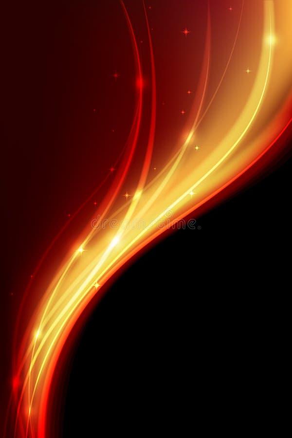 Magische Flammen in der Schwärzung stock abbildung