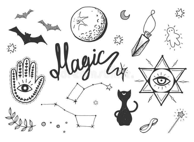 Magische Gegenstände eingestellt stock abbildung
