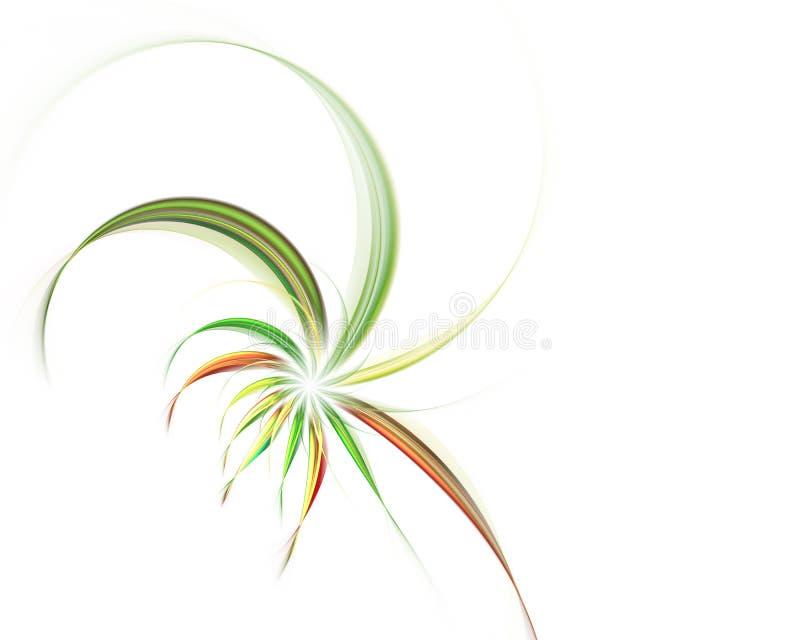 Magische gewundene Blumen Abstrakter Fractal lizenzfreie abbildung