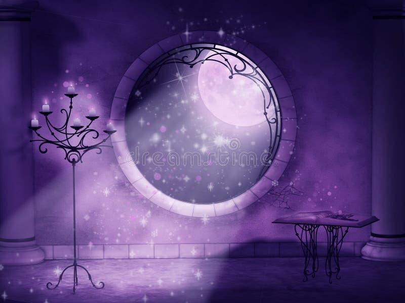 Magische gotische Nacht stock abbildung