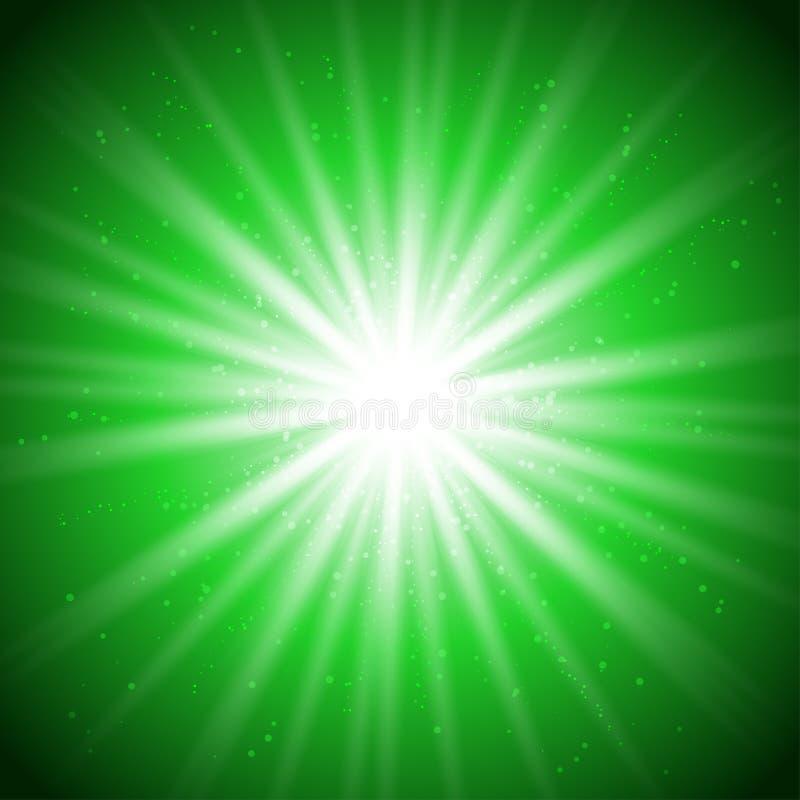 Magische groene licht-01 stock illustratie