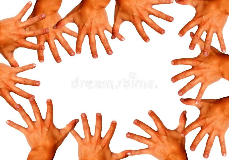 Magische Hände stockbilder