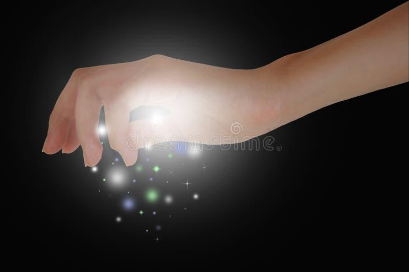 Magische Hände stockfotografie