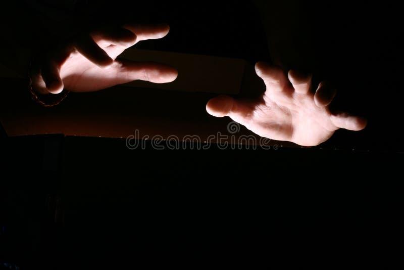 Magische Hände stockfotos