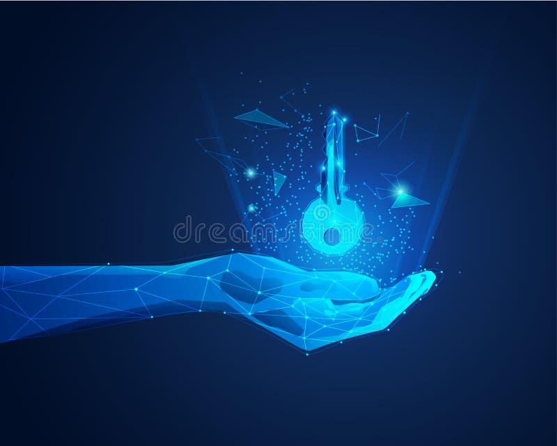 Magische Hand stock abbildung