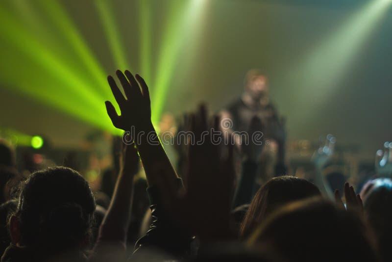 Magische Hand am Konzert stockfoto