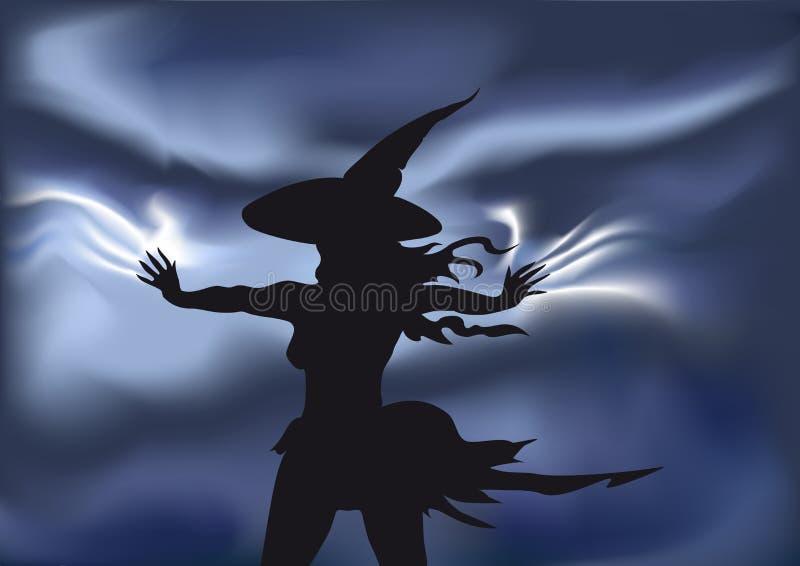Magische heks stock illustratie