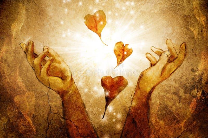Magische Herzen stockfoto