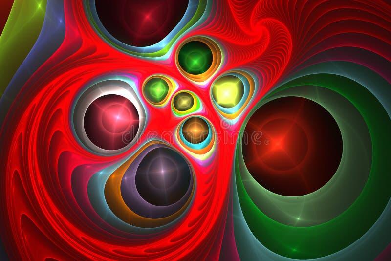 Magische Hypnose der Musik, die hypnotischen Tapetenzusammenfassung Fractaltraumhintergrund träumt vektor abbildung