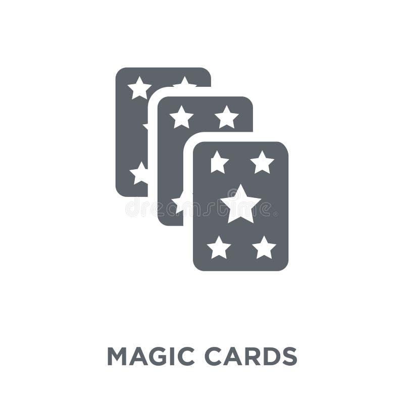 Magische Kartenikone von der Unterhaltungssammlung lizenzfreie abbildung