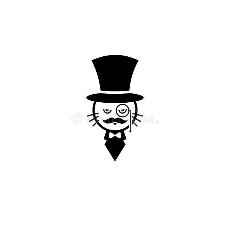 Magische kattentovenaar royalty-vrije stock afbeelding